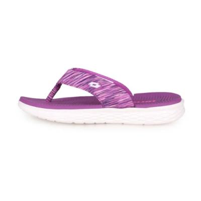 LOTTO 女 EASY WEAR夾腳拖鞋 紫