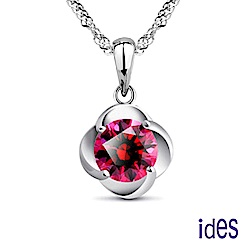 ides愛蒂思 輕珠寶。設計款紅剛玉寶石項鍊/花開富貴