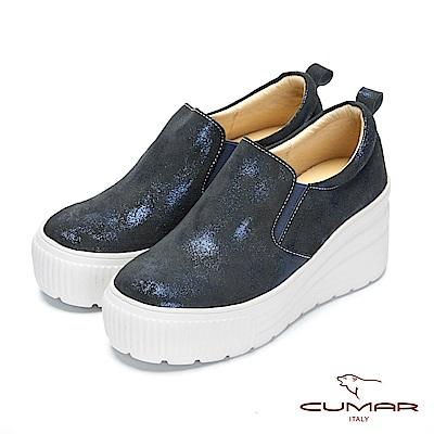 CUMAR率性柔美 - 輕量化厚底牛皮休閒鞋