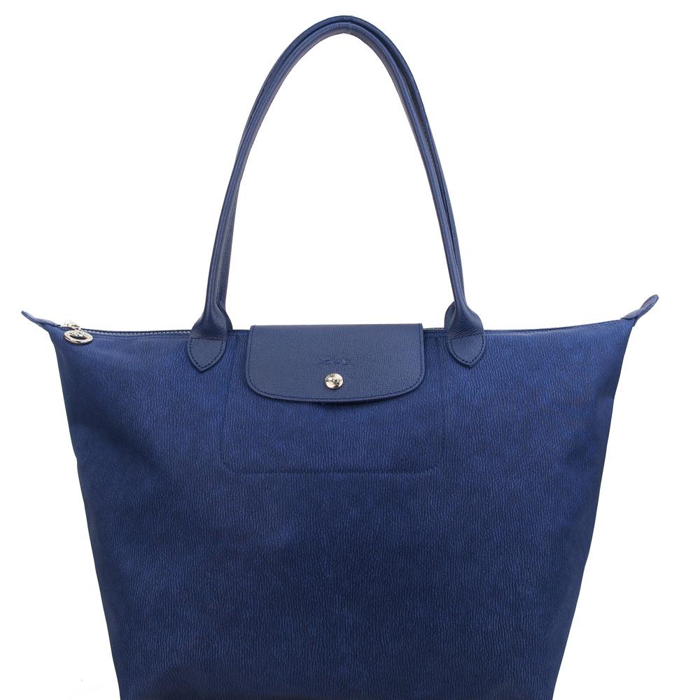 Longchamp Le Pliage Néo Jean s長把購物包L/丹寧藍 @ Y!購物