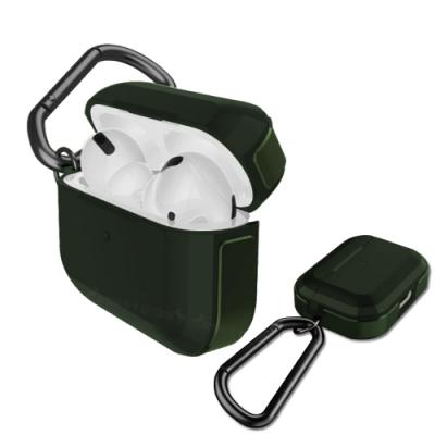 刀鋒TREK Apple AirPods Pro 鋁合金雙料藍牙耳機盒保護套(迷幻夜幕綠)