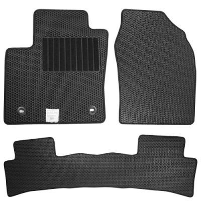 CARBUFF 汽車腳踏墊 FOCUS (19/02~) 四代 適用 / 蜂巢式防水車墊