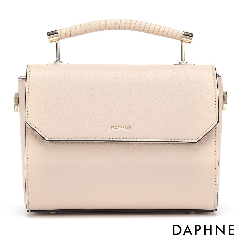 達芙妮DAPHNE-質感簡約純色小方包-杏色