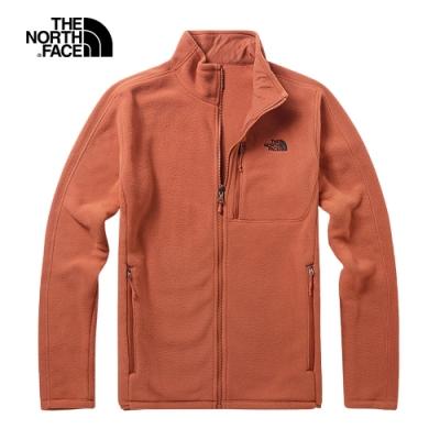 The North Face北面男款紅色舒適保暖針織上衣|3VT9BDN