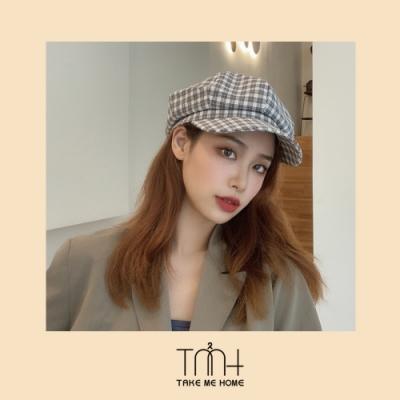 TMH-韓國空運 細格報童帽貝蕾帽-5色