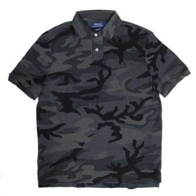 Polo Ralph Lauren 小馬Logo炭黑色迷彩短袖網眼Polo衫(Classic Fit)