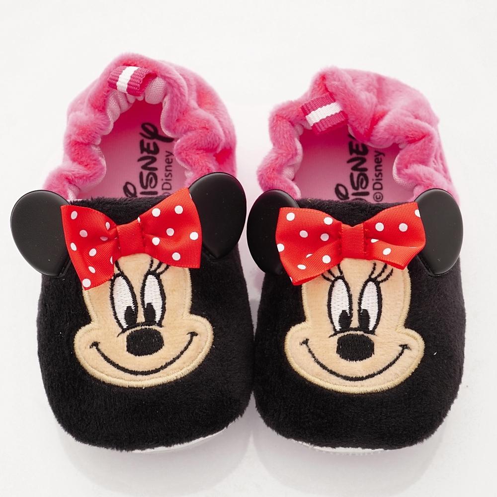 迪士尼童鞋 米妮電繡絨毛學步鞋款 ON19839黑桃(寶寶段)