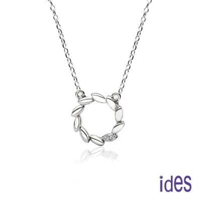 ides愛蒂思 日韓時尚設計純銀晶鑽項鍊鎖骨鍊/花冠