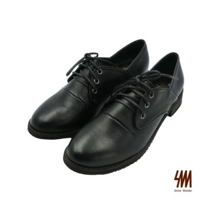 SM-中性復古簡單有型百搭德比鞋-黑色 (兩色)