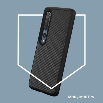 犀牛盾 Xiaomi小米 Mi 10/Mi 10 Pro 共用SolidSuit防摔背蓋手機殼-碳纖維紋路