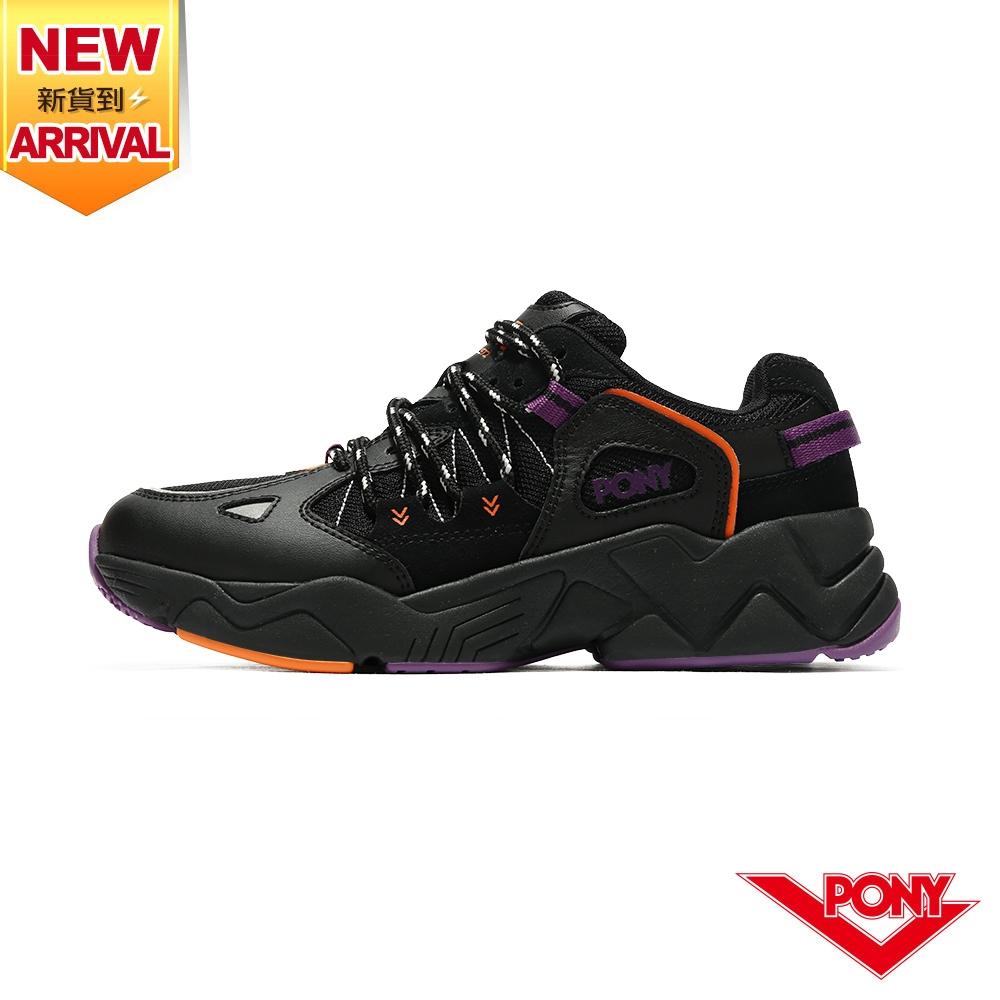 薔力推薦 買鞋送襪【PONY】MODERN 3 電光鞋 酷黑撞色復古慢跑鞋 女鞋-黑