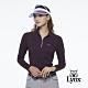 【Lynx Golf】女款吸汗速乾抗UV組織布料小貼袋設計長袖立領POLO衫-深紫色 product thumbnail 2