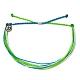 Pura Vida 美國手工 ELECTRIC WAVES藍綠電波 基本繽紛款可調式手鍊 product thumbnail 1
