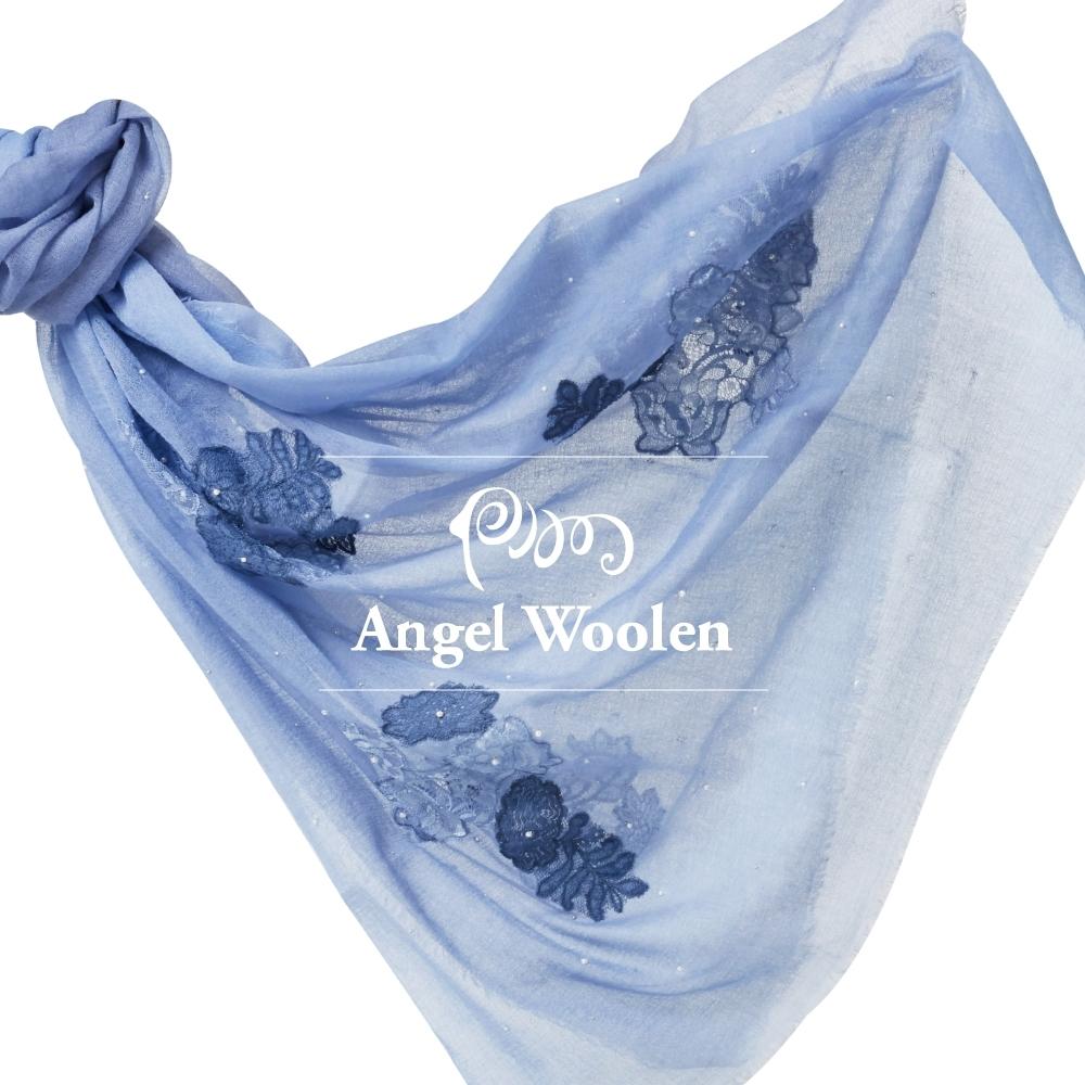 【ANGEL WOOLEN】花意印度胎羊毛手工披肩(共四色)