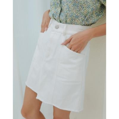 Shester55-斜紋造型剪裁短裙(四色)-女【A2SH002】