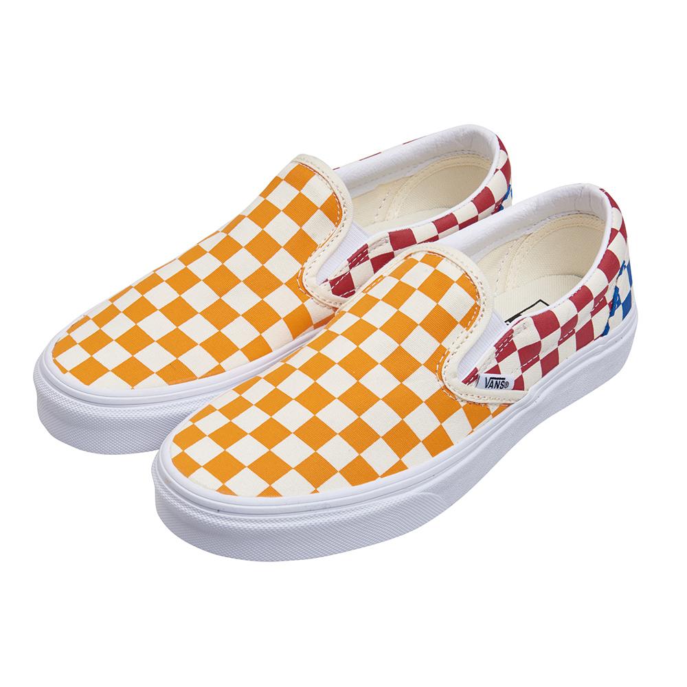 (女)VANS Classic Slip-On 撞色棋盤格休閒懶人鞋