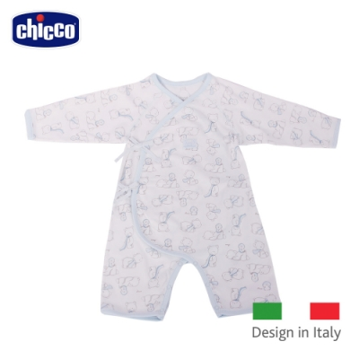 chicco-  印花肚衣式兔裝-藍