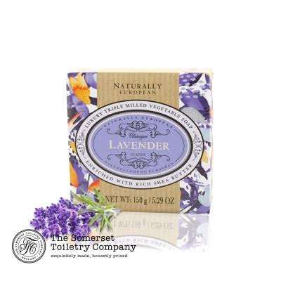 Somerset 賽玫特 英國自然歐洲乳油木香皂150g-薰衣草