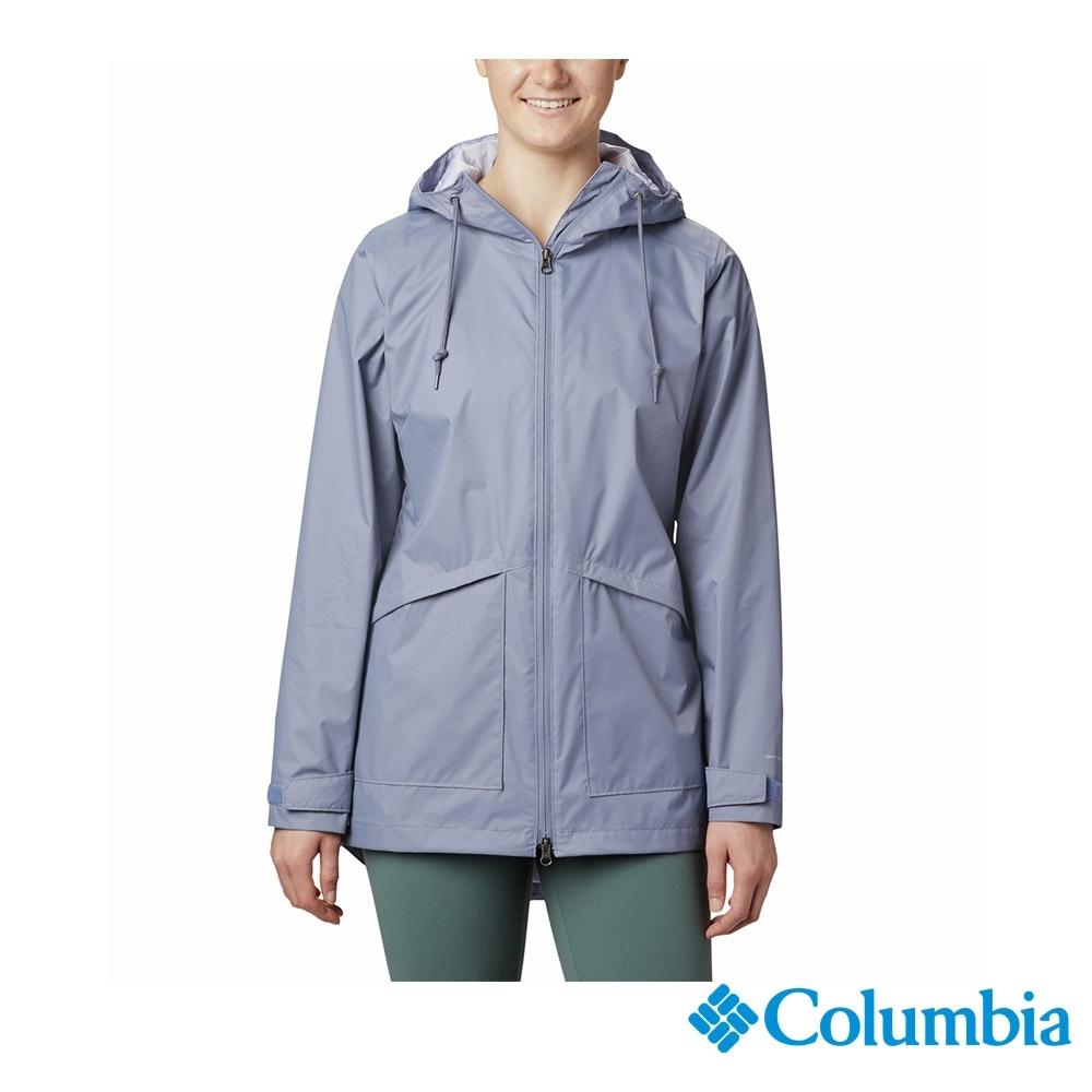 Columbia 哥倫比亞 女款- Omni-TECH防水長版外套-墨藍 UWR01660IB