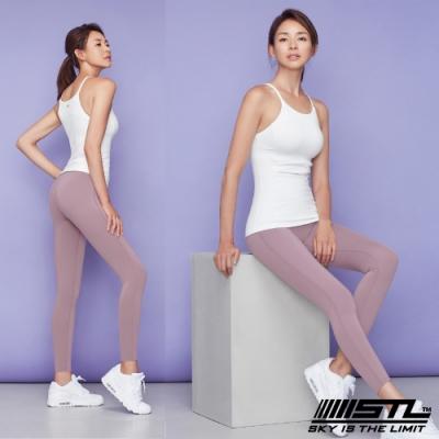 STL Yoga Leggings Free Line 9 韓國瑜珈『無尷尬線』 高腰壓腹 訓練拉提緊身褲 自由曲線 玫瑰粉 重訓/路跑/登山/瑜珈