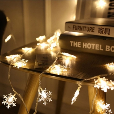 Time Leisure LED派對佈置/耶誕聖誕燈飾燈串(雪花/暖白/5M)