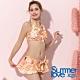 夏之戀SUMMERLOVE 甜美花卉短版三件式泳衣 product thumbnail 1
