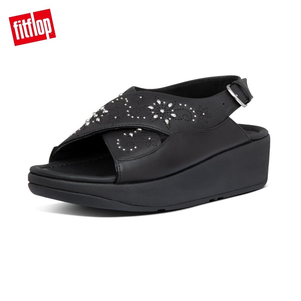 FitFlop MYLA FLOWER-STUD BACK-STRAP SANDALS後帶涼鞋-女(靚黑色)