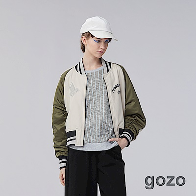 gozo 街頭瘋藝術家塗鴉棒球夾克(二色)-動態show
