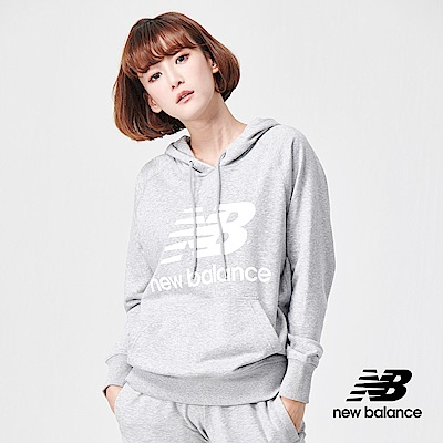 New Balance 連帽長袖上衣_AWT91523AG_女性_灰色