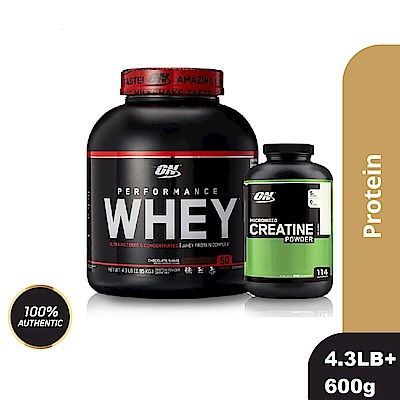 [美國 ON]Performance濃縮乳清蛋白(4.3磅)+肌酸600公克