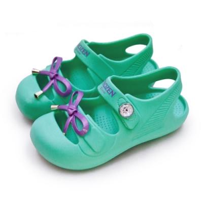 Disney 迪士尼 冰雪奇緣 FROZEN 輕量兒童涼鞋 綠紫 84745