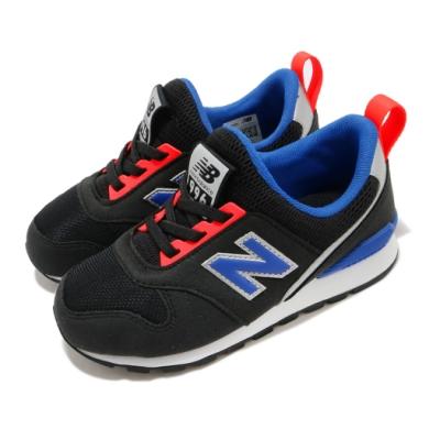 New Balance 休閒鞋 996 Wide 寬楦 運動 童鞋 紐巴倫 基本款 簡約 舒適 襪套 中童 黑 藍 PT996SBKW