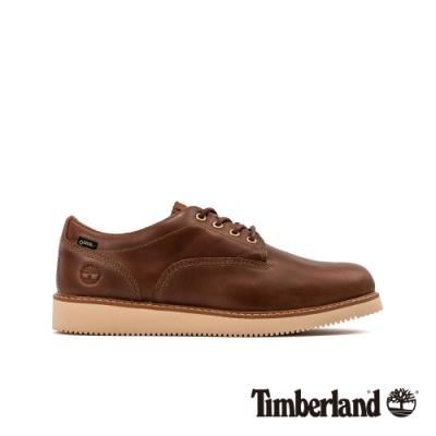 Timberland 男款棕色全粒面革防水休閒鞋|A253C