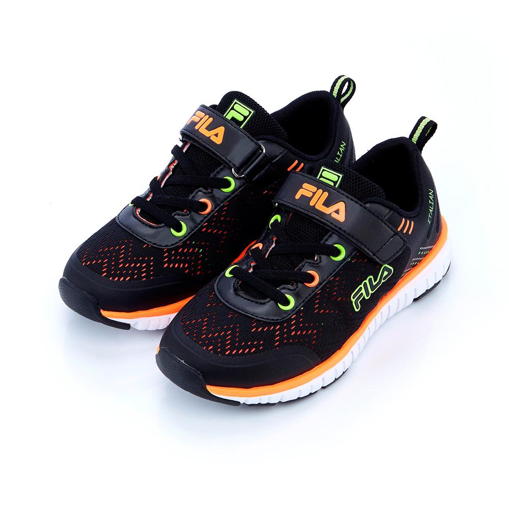 FILA KIDS 大童慢跑鞋-黑 3-J202S-061