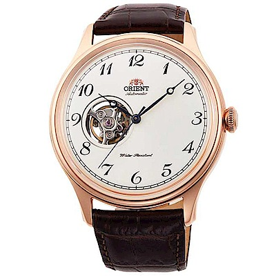 ORIENT東方錶 簡白經典鏤空自動機械錶(RA-AG0012S10B)-白x43mm