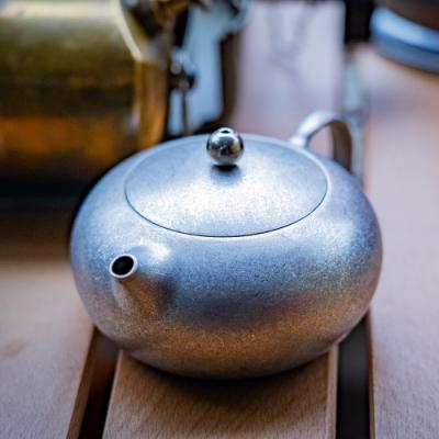 Keith純鈦 Ti3921 TC4鈦合金新式鑄鈦扁西施壺鈦茶壺