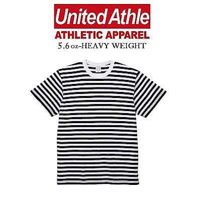 United Athle 海洋風細條紋短袖T恤 UA棉柔手感