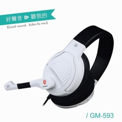 ALTEAM電腦雙插頭數位音效電競耳麥GM-593