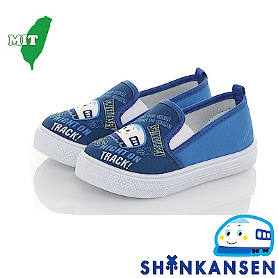 三麗鷗 新幹線童鞋 輕量減壓防滑幼稚園室內鞋懶人鞋-藍