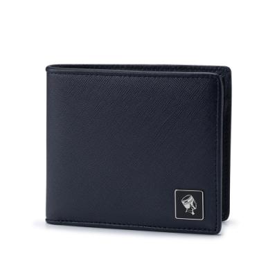 PORTER - 法式時尚BEND質感橫式零錢皮夾 - 深藍