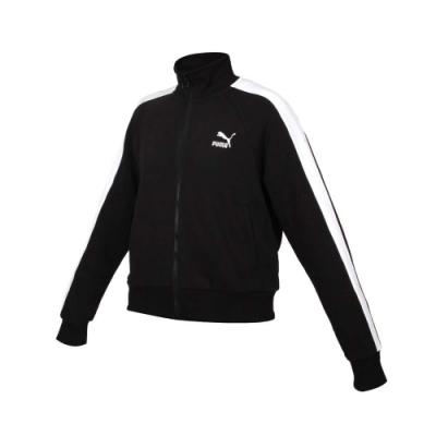 PUMA 女T7立領外套-慢跑 路跑 運動 歐規 53007801 黑白