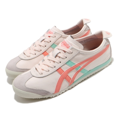 Onitsuka Tiger 休閒鞋 Mexico 66 復古 低筒 女鞋 OT 鬼塚虎 皮革鞋面 穿搭 米 粉橘 綠 1182A078700
