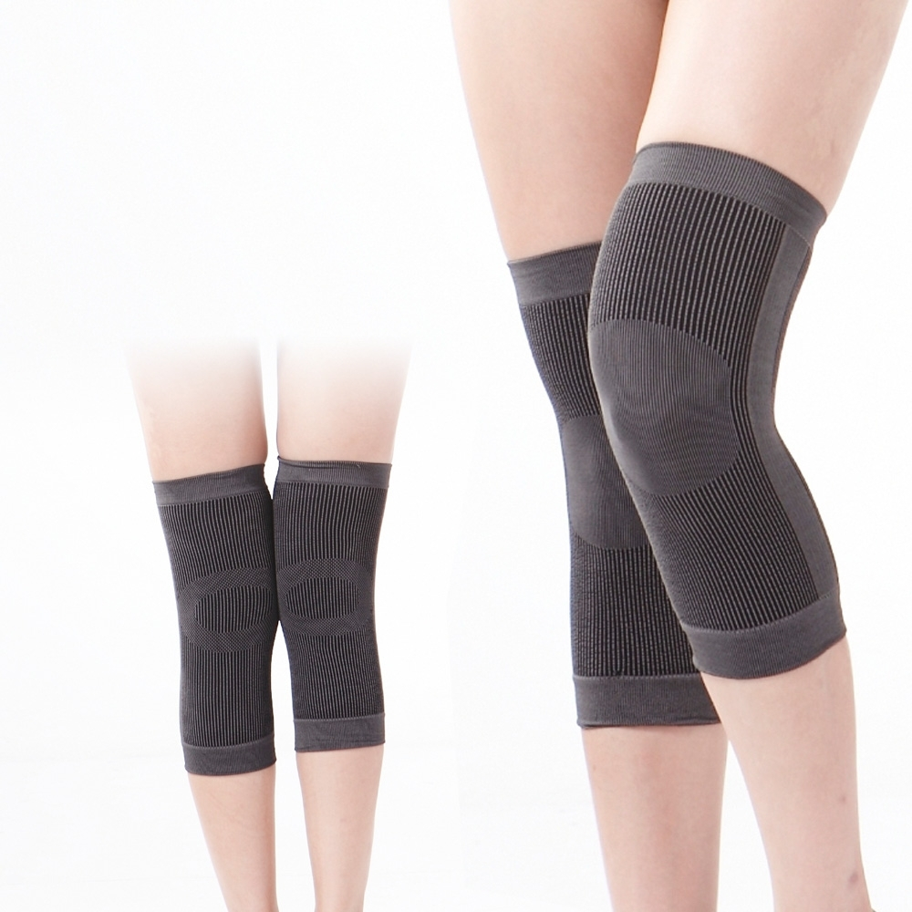【JS嚴選】*台灣製*竹炭透氣舒適運動護膝(竹膝*2雙)