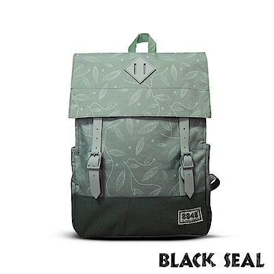 福利品 BLACK SEAL 聯名8848系列- 撞色拼接雙皮帶釦後背包- 嫩綠色