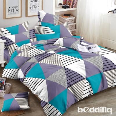 BEDDING-頂級法蘭絨-單人床包被套三件組-文青愛情