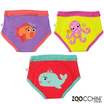 ZOOCCHiNi美國有機棉學習褲3入-海洋系列 女孩款