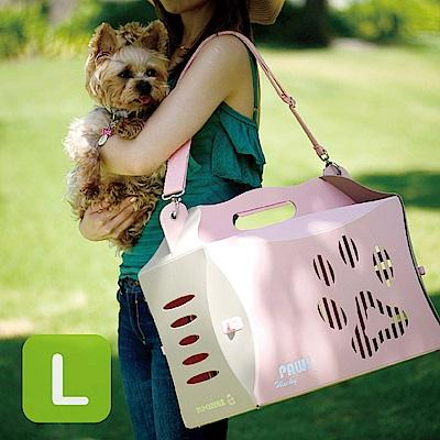 Crazypaws瘋狂爪子 V2 ECO環保寵物外出摺疊提箱/旅行箱-L號