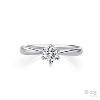 SOPHIA 蘇菲亞珠寶 -經典六爪 GIA 1.5克拉D 3EX 950鉑金 鑽石戒指