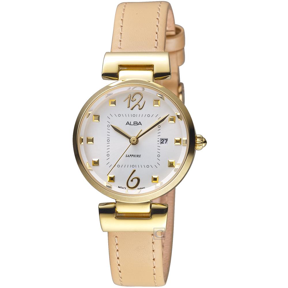 ALBA雅柏趣味幾何時尚腕錶(AH7R24X1 VJ22-X281J)