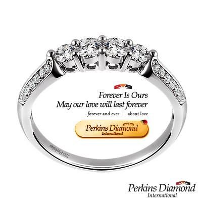 PERKINS 伯金仕 - 夏綠蒂系列 <b>0</b>.47克拉鑽石戒指